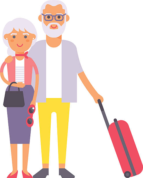 Best Older Couple Illustrations, Royalty-Free Vector ...