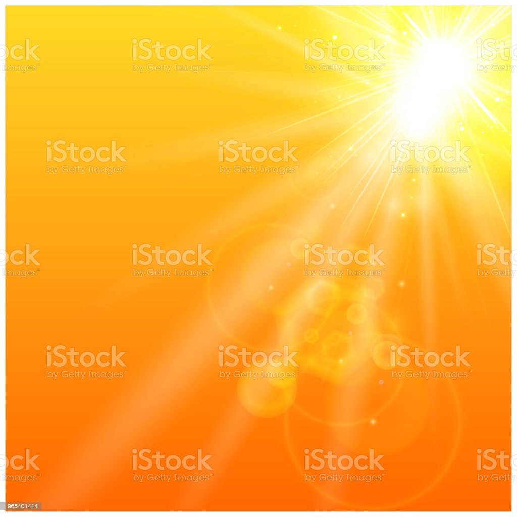 Summer orange background with sunlight. summer orange background with sunlight - stockowe grafiki wektorowe i więcej obrazów abstrakcja royalty-free