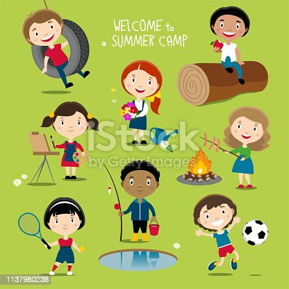 istock Summer outdoor activities for kids 1137980238