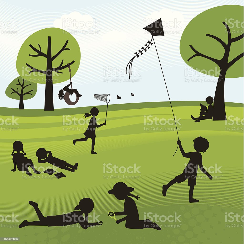 Summer Outdoor Activities royalty-free stock vector art