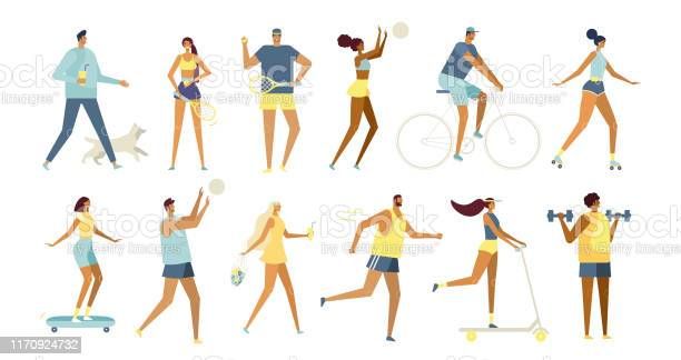 Summer outdoor activity set of vector cartoon characters vector id1170924732?b=1&k=6&m=1170924732&s=612x612&h=fdofs3ahhfod8ctnnelv3kkmpipctku uttmffnopw0=