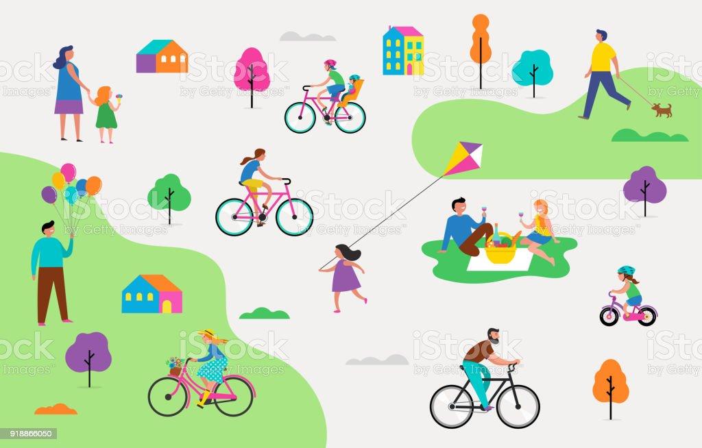 Etkin Aile Tatil Park Faaliyetleri çizim çocuklar çiftler Ve Aileler