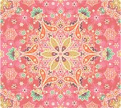 Seamless colored paisley
