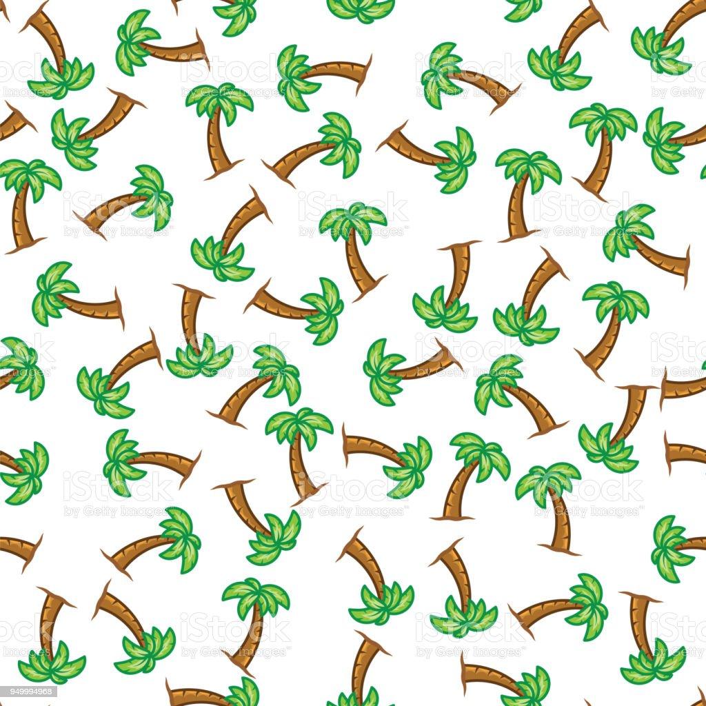 Ilustración de Palmera De Verano Sobre Fondo Blanco Las Palm árbol ...