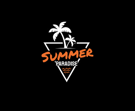 Summer Paradise t-shirt and apparel design, typography, Surfing fashion print design.