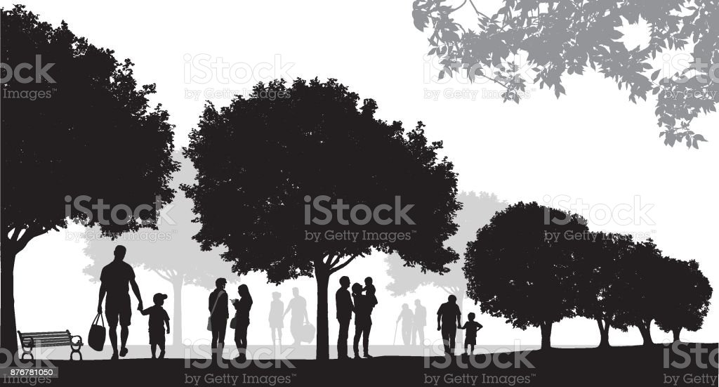 Summer Parks vector art illustration