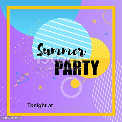 Summer Party. Flyer First Love Disco and Kiss. Club Flashmob. Bright Decoration of Evening. Discovery Entertainment Industry  Capital. Fantastic Energy Music Show Exclusive Perfomance.