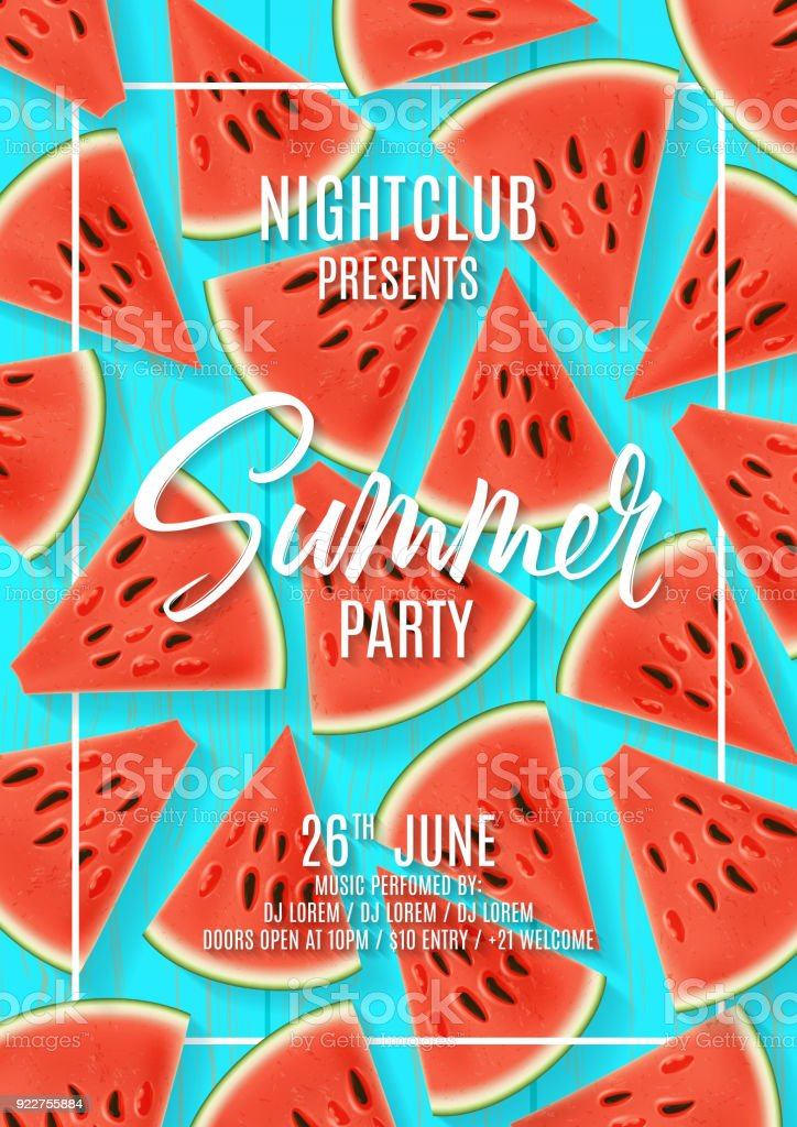 summer party flyer template stock vector art more images of banner