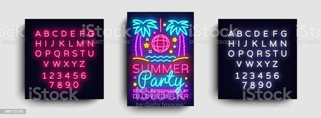 Summer Party Invitation Card Design Template Summer Party