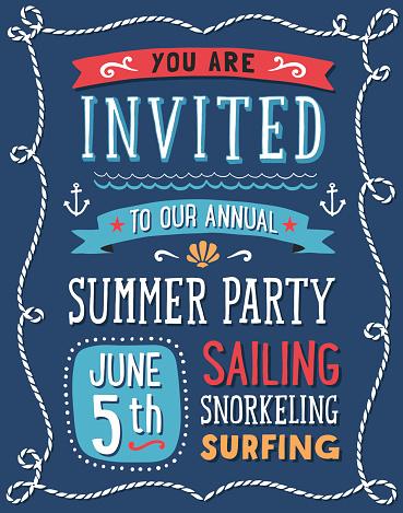 Summer Party Invitation
