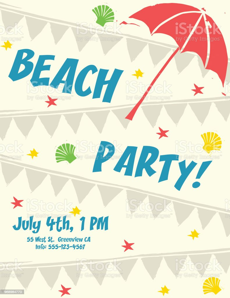 summer party invitations from tiny prints. free summer party ...