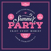 Summer party pink
