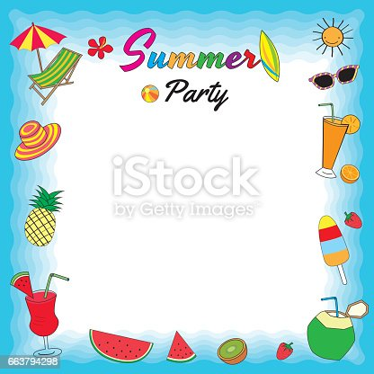Summer Party Template Stock Vector Art & More Images of ...