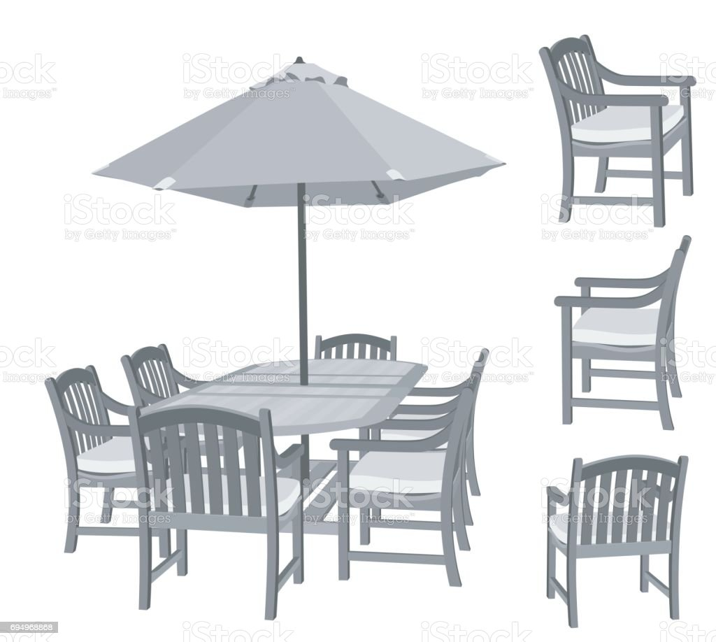 Summer Patio Set Stock Illustration Download Image Now Istock