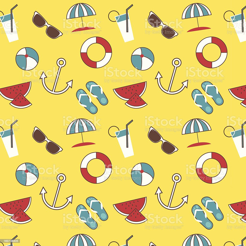 Summer pattern royalty-free stock vector art