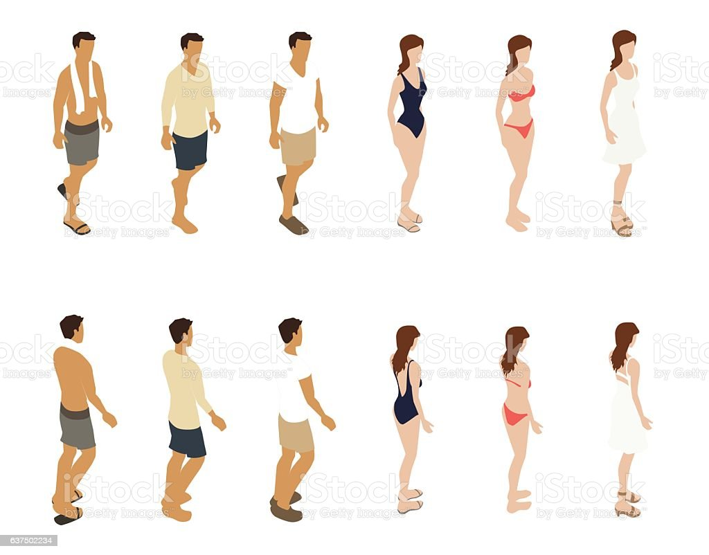 Summer People Illustration royalty-free summer people illustration stock vector art & more images of barefoot