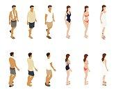 Summer People Illustration