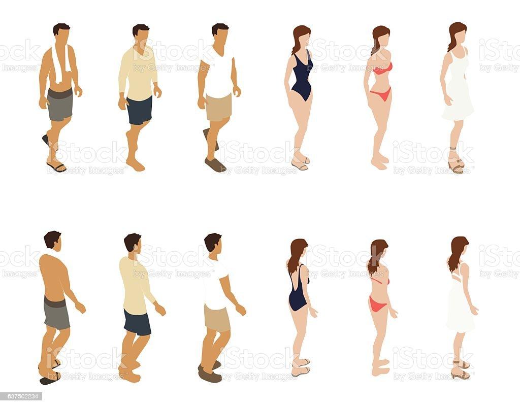 Summer People Illustration vector art illustration