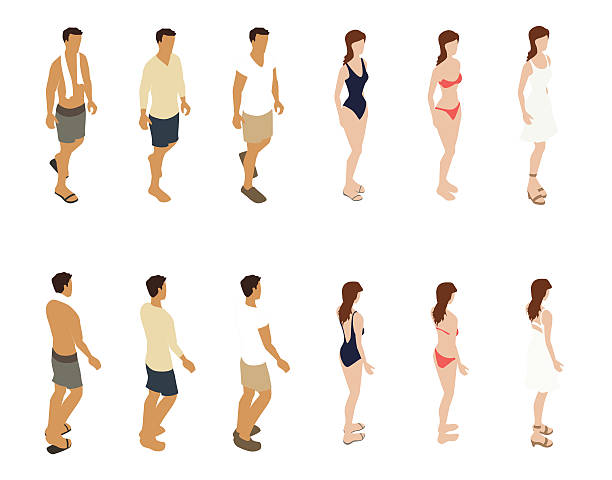 summer people illustration - mathisworks people icons stock illustrations, clip art, cartoons, & icons
