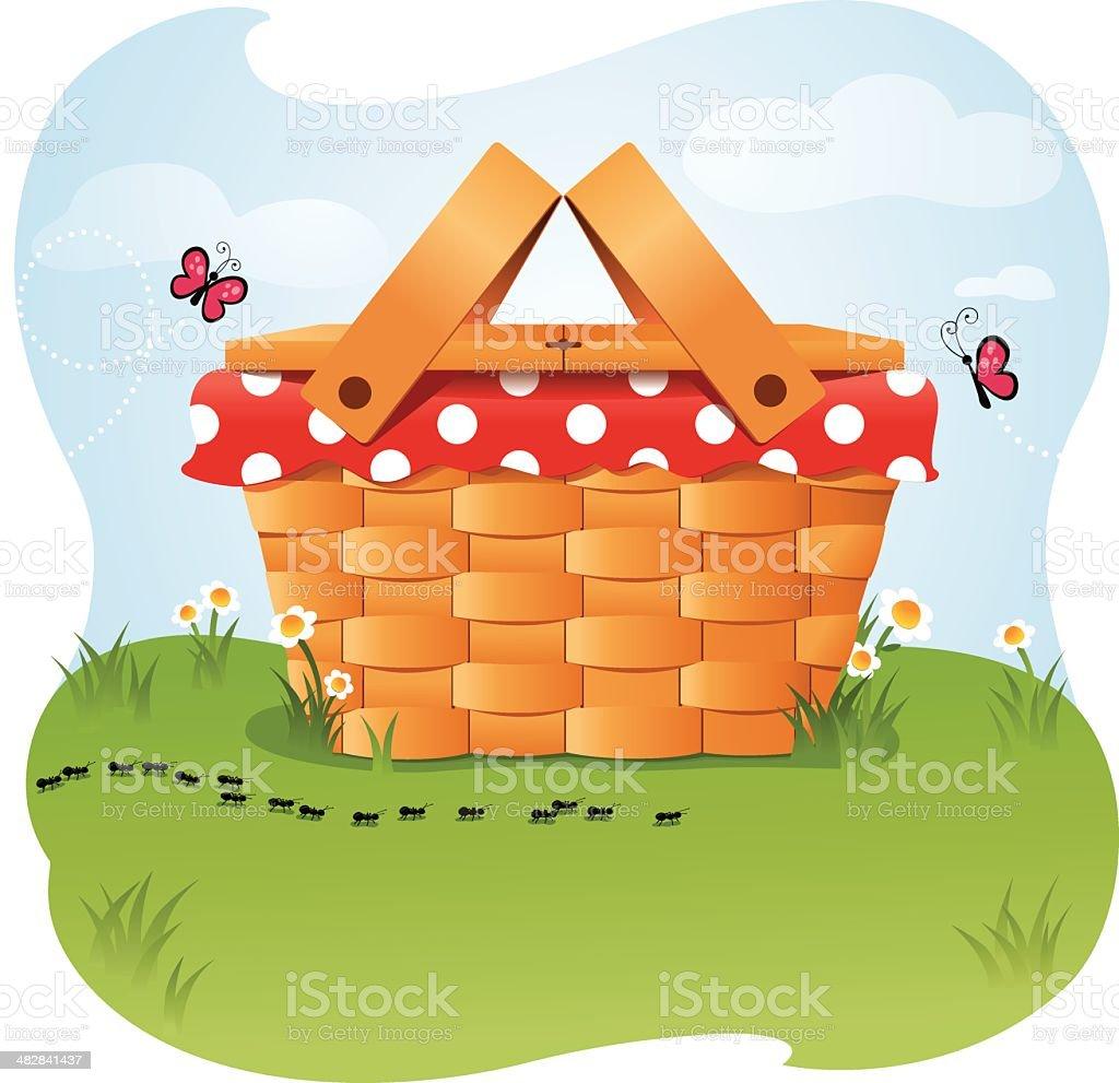 royalty free picnic basket clip art vector images illustrations rh istockphoto com picnic basket clip art images Picnic Basket Coloring Page