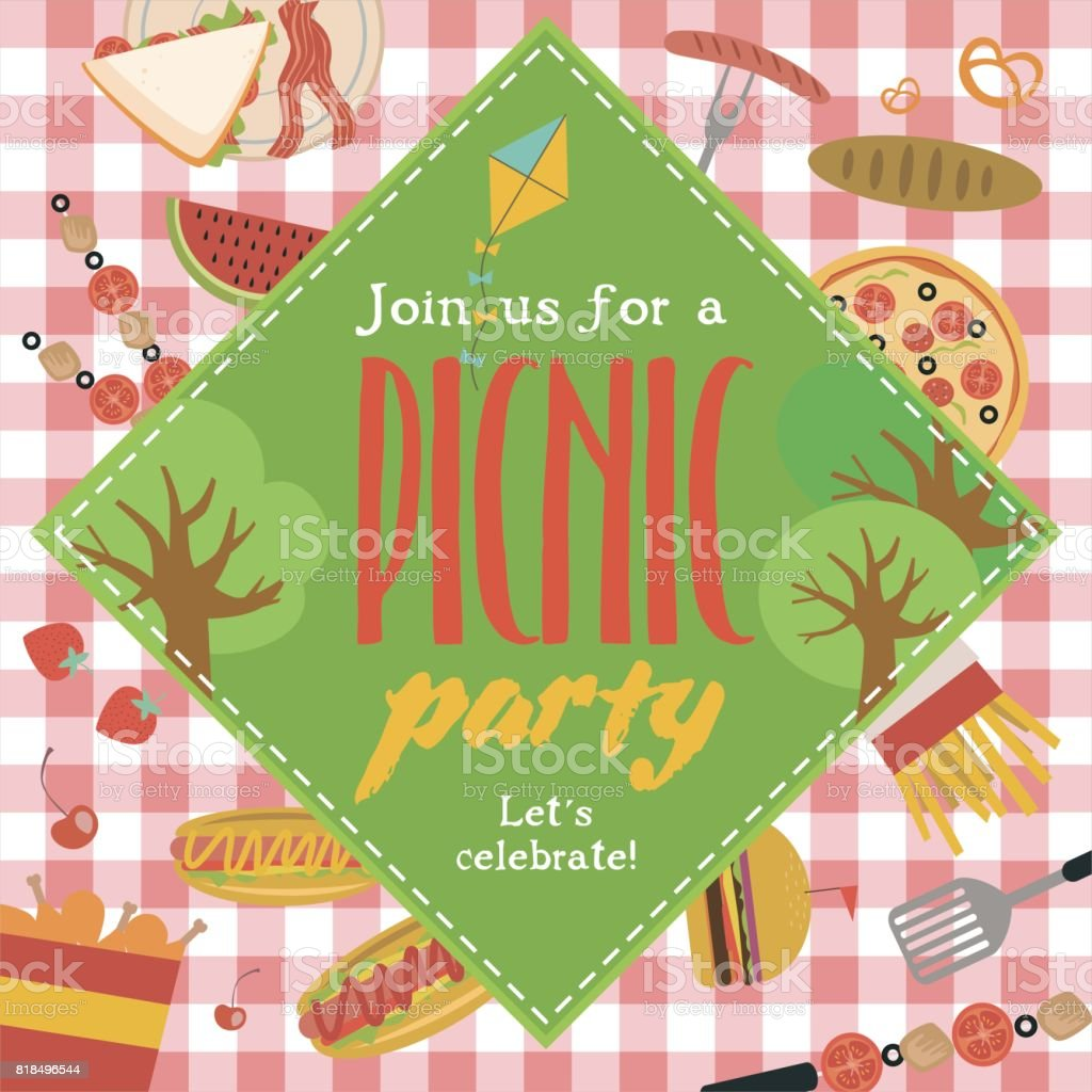 summer picnic invitation