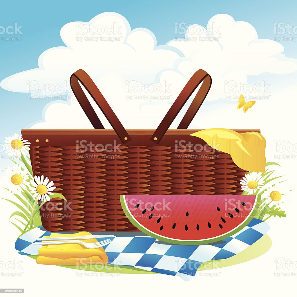Royalty Free Picnic Basket Clip Art, Vector Images ...