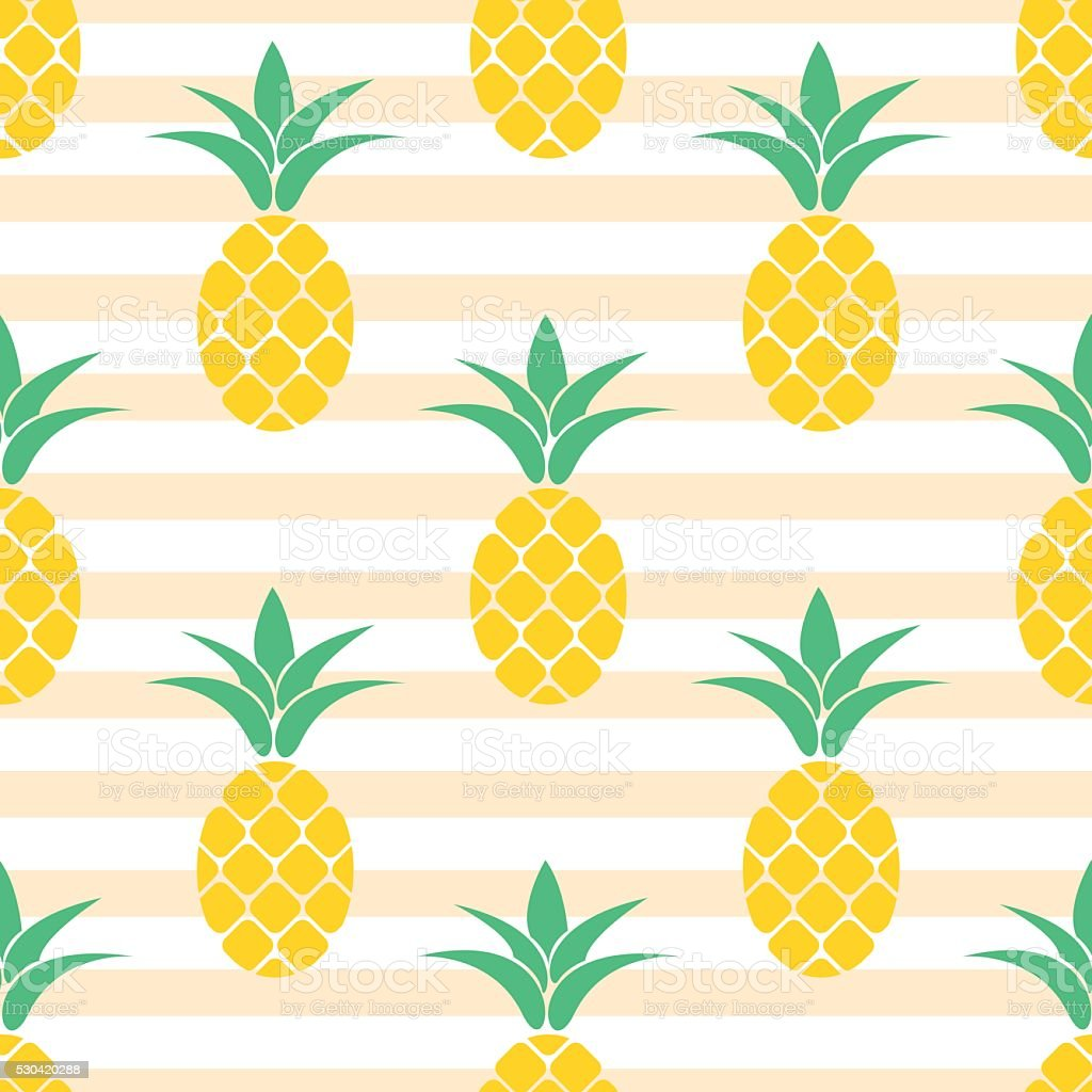 summer pineapple pattern design pastel colors background vector id530420288