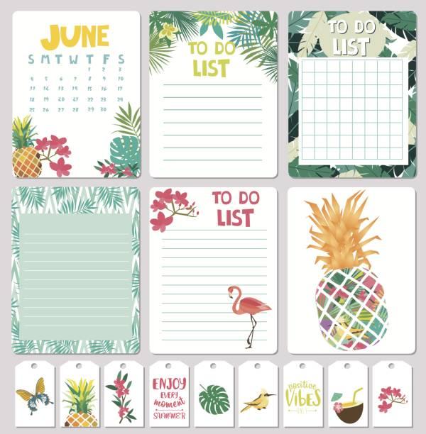 ilustrações, clipart, desenhos animados e ícones de planejador de verão - calendário de vida selvagem