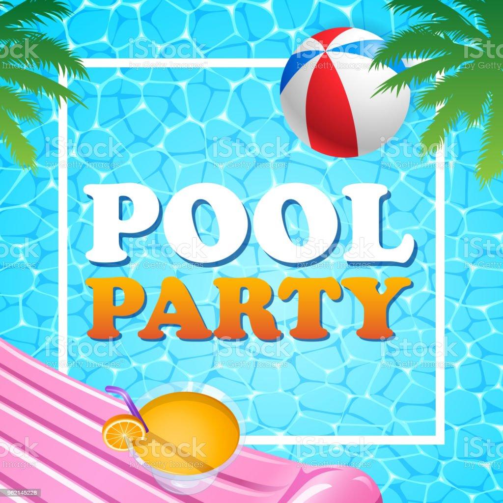 Vetores de ver o na piscina e mais imagens de abstrato for Party in piscina