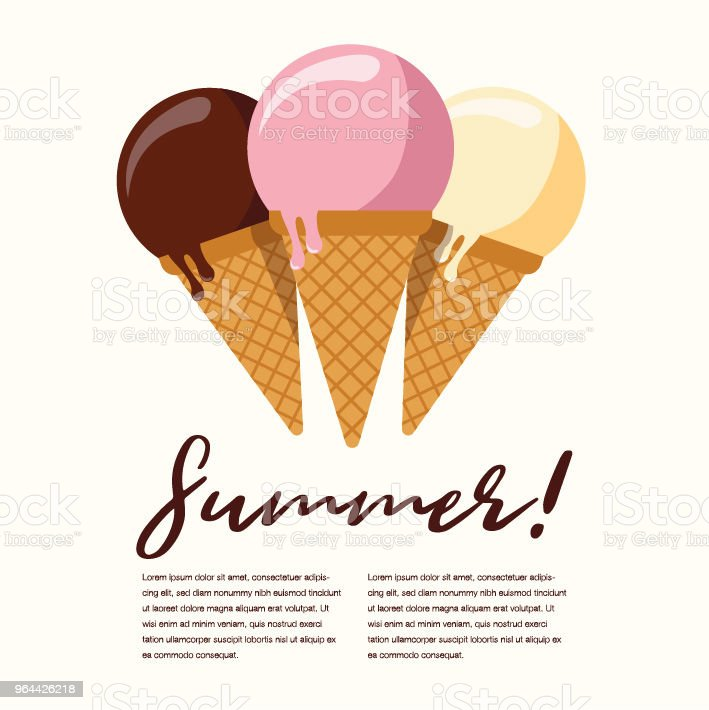 Summer Popsicle Composition – Copy Space - Royalty-free Beauty stock vector