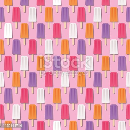 istock Summer Popsicle Seamless Pattern 1152144714