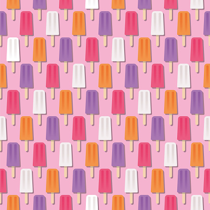 Summer Popsicle Seamless Pattern