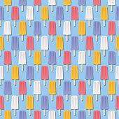 Summer Popsicle Seamless Pattern - Illustration