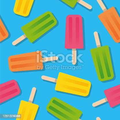 istock Summer Popsicle Seamless Pattern. 1251326088