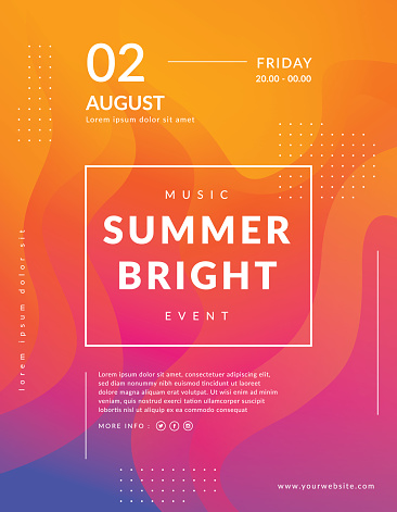 Summer poster event template