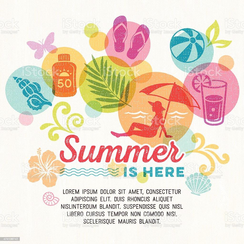 Summer Promo Background vector art illustration