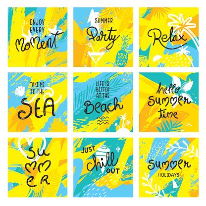 Summer quotes set
