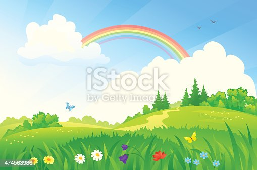 istock Summer rainbow 474563986