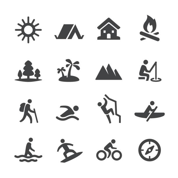 Summer Recreation Icons - Acme Series vector art illustration