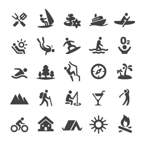 Summer Recreation Icons - Smart Series Summer Recreation, golf icon stock illustrations
