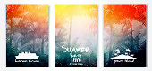 Summer resort poster design