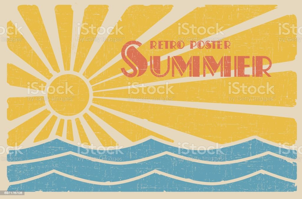 Summer Retro Poster Stock Illustration - Download Image ...