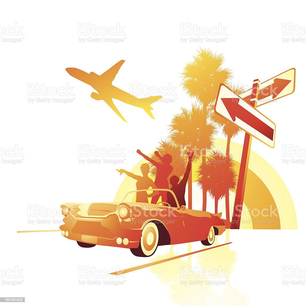 Summer road trip adventure royalty-free stock vector art