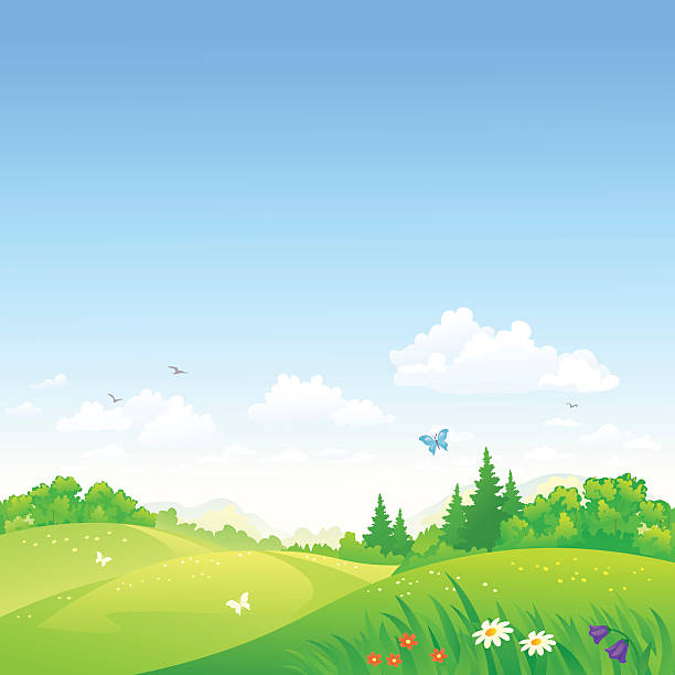 Royalty Free Rolling Hills Clip Art Vector Images