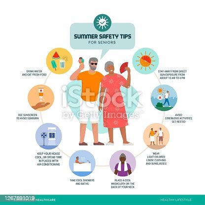 istock Summer safety tips for seniors 1267691019