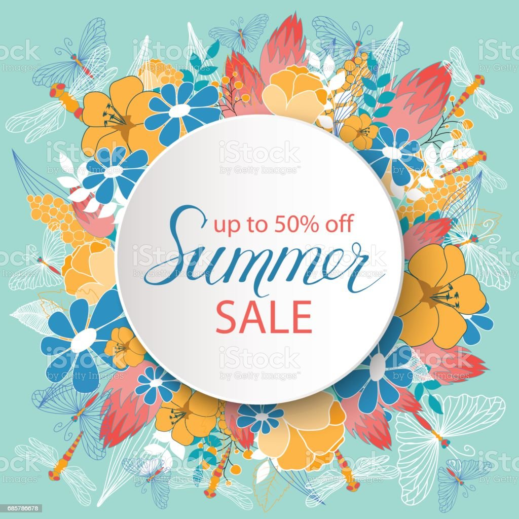 Summer sale announcement poster royalty-free summer sale announcement poster stock vector art & more images of abstract