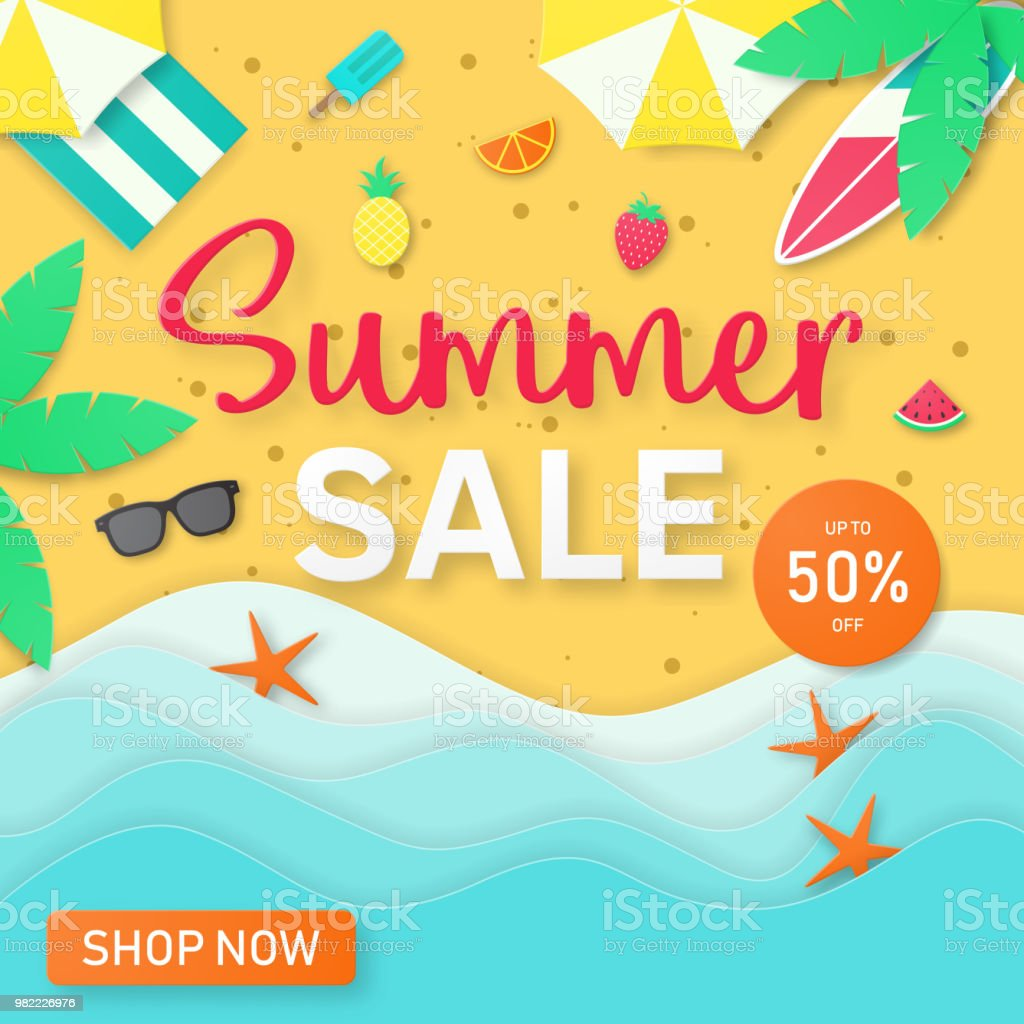 Summer Sale Background For Banner Flyer Invitation Poster Web Site