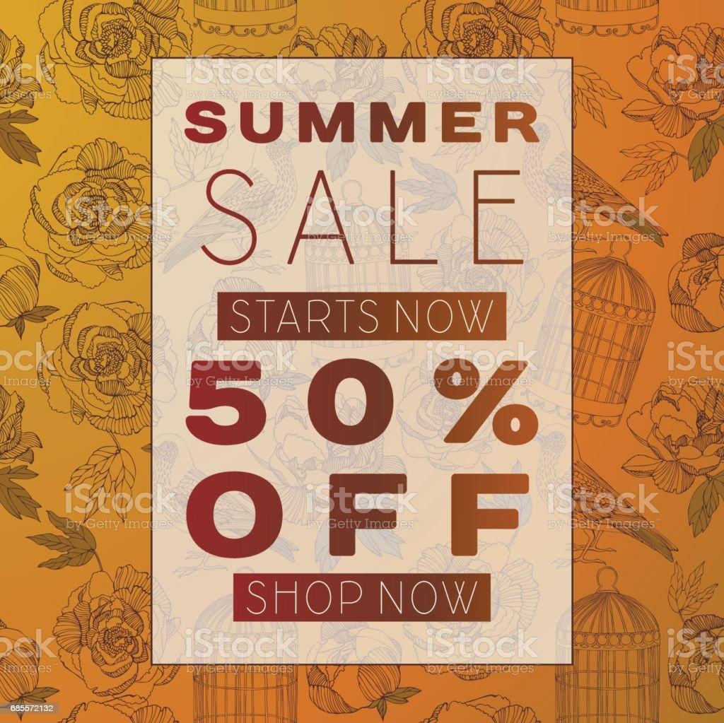 여름 판매 배경, 포스터, 브로셔, 쿠폰 할인. royalty-free 여름 판매 배경 포스터 브로셔 쿠폰 할인 가격에 대한 스톡 벡터 아트 및 기타 이미지
