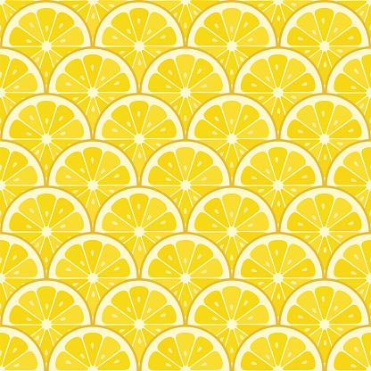 Summer sale background with lemons slices. Vector illustration.