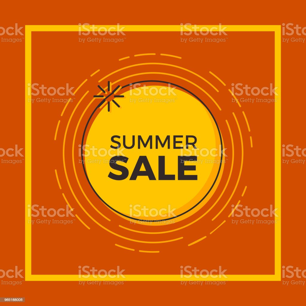 Summer sale background with the sun for print, web design and banners. Vector design summer sale background with the sun for print web design and banners vector design - stockowe grafiki wektorowe i więcej obrazów baner royalty-free